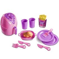 Cozinha Infantil Brinquedo Fritadeira Air Fryer Rosa Menina - Zuca Toys