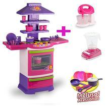 Cozinha Infantil Brinquedo infantil Poliplac com Batedeira e Liquidificador -