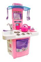 Cozinha Infantil Classic Kit Com Fogão Pia Geladeira Bigstar 16 Peças 68cm de Altura 630 - Gala