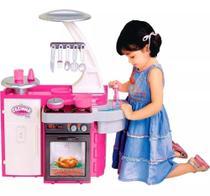 Cozinha Infantil Classic Rosa Fogão Pia Geladeira - Cotiplas -