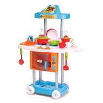Cozinha Infantil Com Rodas Riva Chefe Completa Calesita -