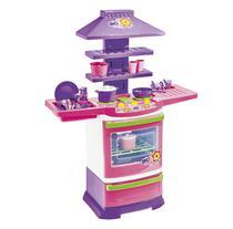 Cozinha Infantil Completa Fogão Big Chef- Rosa  Poliplac -