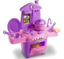 Cozinha Infantil Completa Fogão Forno Pia Acessórios Oferta - Zuca Toys