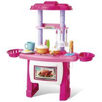 Cozinha Infantil Completa Fogãozinho Panelinha Com Som Luz - Importway