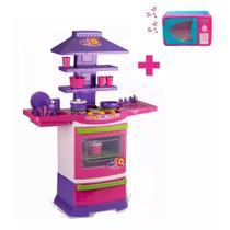 Cozinha Infantil Completa Fogãozinho Panelinha + Microondas - Kit