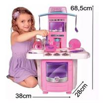 Cozinha Infantil Completa Menina Fogãozinho Criança - Big Star