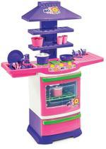 Cozinha Infantil Completa Menina Fogãozinho Criança Poliplac -