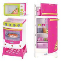 Cozinha Infantil Fogão + Geladeira + Microondas Super Kit - Magic Toys