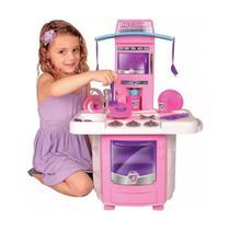 Cozinha Infantil Menina Completa Fogão Forno E Pia Com Água - Big Star