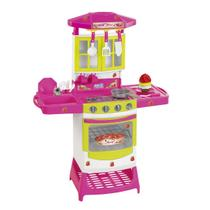 Cozinha Infantil Menina Completa Pia  Fogão  Acessórios Cupcake - Magic toys