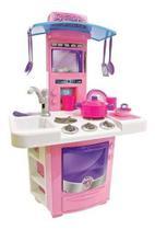 Cozinha Infantil Menina Completa Pia Fogão Forno Sai Água - BIG STAR -