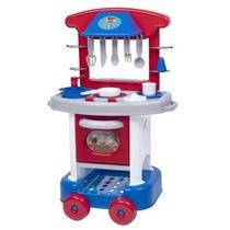 Cozinha Infantil Menino Play Time Azul com Acessórios 2421 Cotiplás -