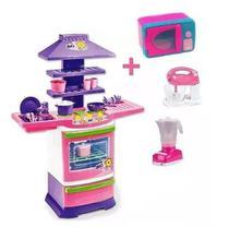 Cozinha Infantil Microondas Batedeira E Liquidificador - Kit