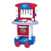 Cozinha Infantil Para Menino Com Forninho E Acessórios 71cm Play Time 2421 - Cotiplás - Cotiplas