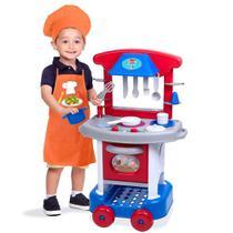 Cozinha Infantil Play Time com Acessórios - Azul - Cotiplás -