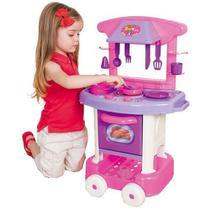 Cozinha Infantil Play Time com Acessórios - Rosa - Cotiplás -
