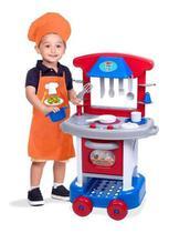 Cozinha Infantil Play Time Menino Acessórios Cotiplás 2421 -