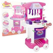 Cozinha Infantil Rosa Forno Fogão E Pia Brinquedos Play Time - Cotiplás