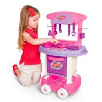 Cozinha Infantil Rosa Forno Fogão E Pia Brinquedos Play Time - Cotiplás -