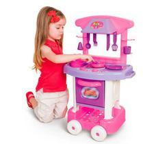 Cozinha Infantil Rosa - Play Time - Cotiplás -  UNICA - COTIPLAS
