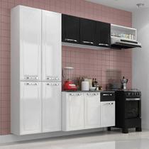 Cozinha Itatiaia Amanda Compacta 4 Pecas Branca e Preta -