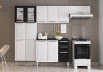 Cozinha Itatiaia Luce - 4 Peças 2 Vidros  Branca e Preta -