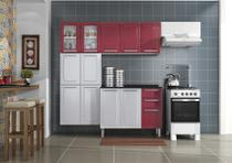 Cozinha Itatiaia Luce - 4 Peças 2 Vidros  Vermelho c/ Branca -