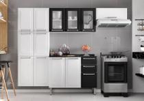 Cozinha Itatiaia Luce - 4 Peças 3 Vidros  Branca e Preta -