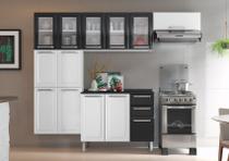 Cozinha Itatiaia Luce - 4 Peças 5 Vidros  Branca e Preta -
