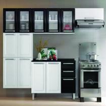 Cozinha Itatiaia Luce 4 Peças Max 5 Portas de Vidro Cestaplus Branca -