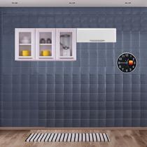 Cozinha Itatiaia Luce Armários Aéreos 4 Portas 3 Vidros Branco -