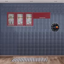 Cozinha Itatiaia Luce Armários Aéreos 4 Portas 3 Vidros Vermelho -