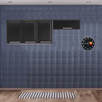 Cozinha Itatiaia Luce Armários Aéreos 4 Portas Preto -