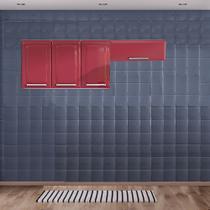 Cozinha Itatiaia Luce Armários Aéreos 4 Portas Vermelho -