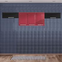 Cozinha Itatiaia Luce com Armário Aéreo 5 Portas Vermeho / Preto -