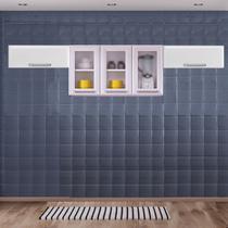 Cozinha Itatiaia Luce com Armário Aéreo com 3 Vidros 5 Portas Branco -