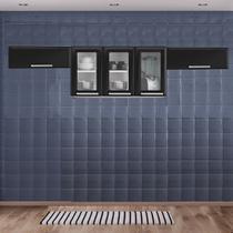 Cozinha Itatiaia Luce com Armário Aéreo com 3 Vidros 5 Portas Preto -
