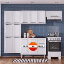 Cozinha Itatiaia Luce Compacta 3 Pecas Branco/Preto Paneleiro Armario Aereo -