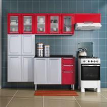 Cozinha Itatiaia Luce Compacta 4 Pecas 5 Vidros Vermelho -