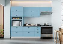 Cozinha Itatiaia Master Retrô I1 - 4 Peças - Azul Claro -