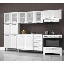 Cozinha Itatiaia Premium Compacta 4 Pecas 5 Vidros Balcao / Gabinete c/ 4 Gavetas Branco -