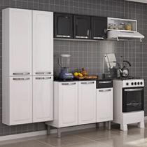 Cozinha Itatiaia Rose Compacta 4 Pecas Branco/Preto -