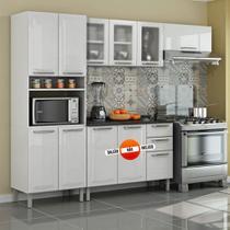 Cozinha Itatiaia Tarsila Compacta 3 Pecas 3 Vidros Paneleiro Forno Branca -