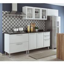 Cozinha Itatiaia Tarsila Compacta 4 Pecas 3 Vidros e Balcão para Cooktop 5 Bocas Branca -