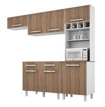 Cozinha Lorena Plus 7 Portas Branco com Montana - Madine -