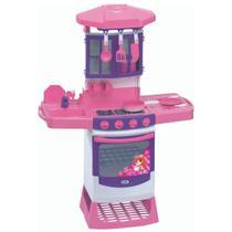 Cozinha Magica com Fogão Pia Panelinhas Magic Toys Rosa -
