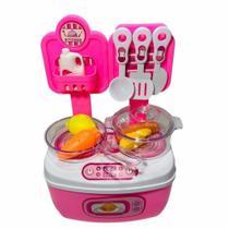 Cozinha Maleta Brinquedo Infantil Rosa com Acessórios - Wellmix