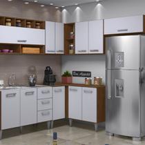 Cozinha modulada 07 peças (07 cx) milena 27511 marrom branco - Bymadero Mobilia