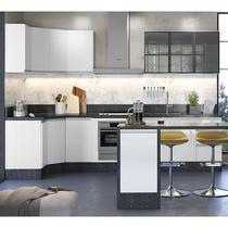 Cozinha Modulada 10 Peças 100% MDF Kali Premium 704520 Branco Nicioli -