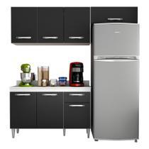 Cozinha Modulada 3 Módulos Composição 3 Branco/Preto - Lumil - Lumil Móveis